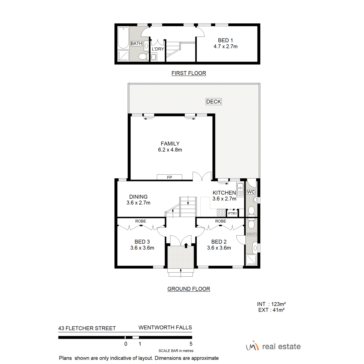 43 fletcher street wentworth falls nsw 2782 umi real estate for Floor plans 761 bay street