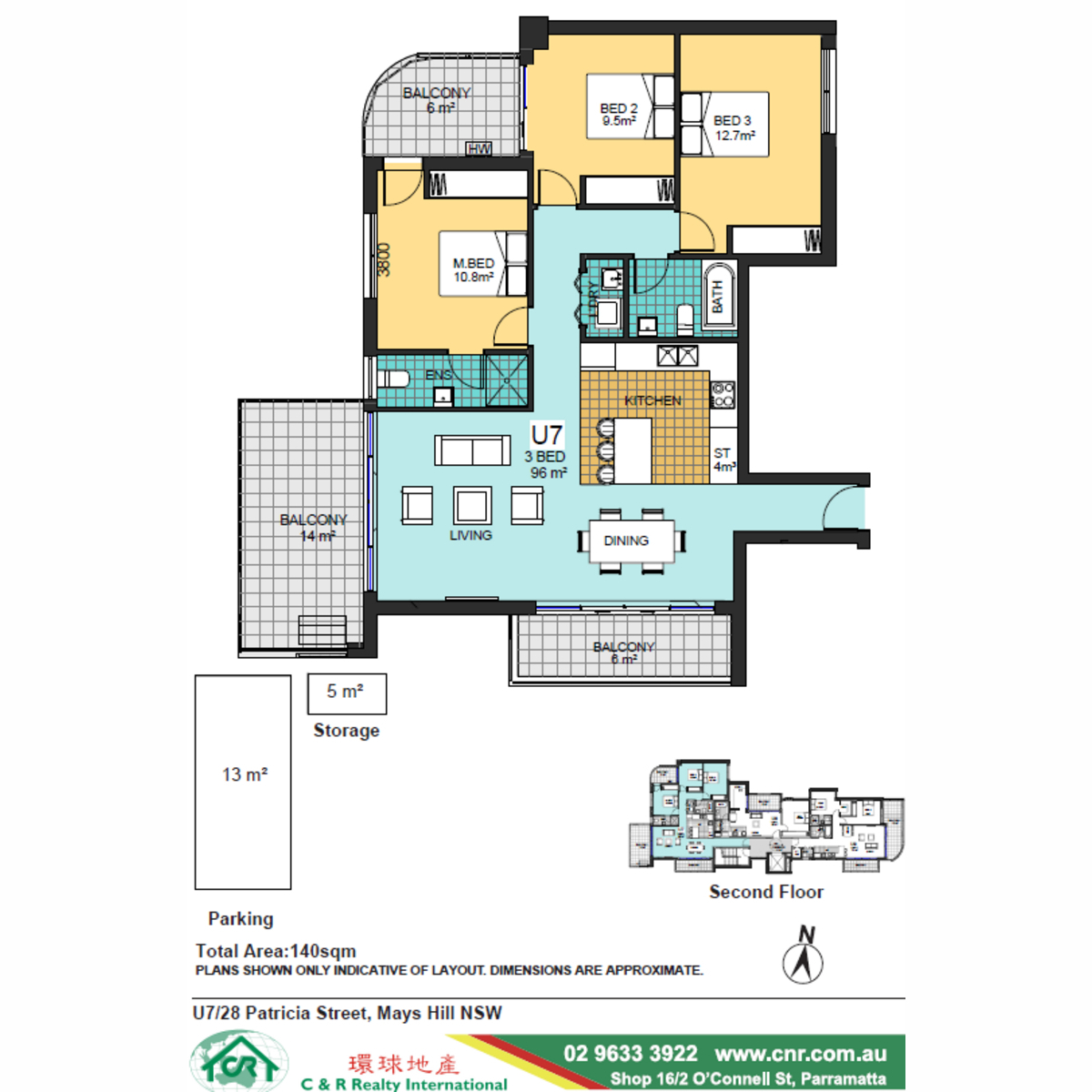 Brand New off the plan 3 bedroom apartment in Parramatta city