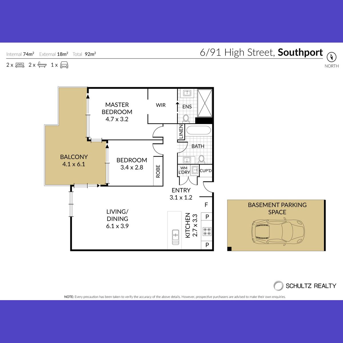 91 High Street, Southport, Australia 4215, 2 Bedrooms Bedrooms, ,2 BathroomsBathrooms,Apartment,Sold,High Street,1258