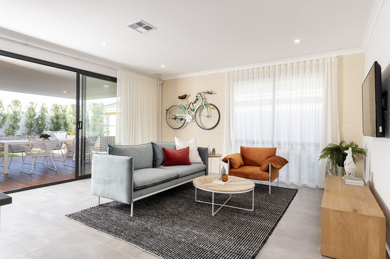 4 bed, 2 bath single storey home design Perth with 14.50m frontage by Aussie Living Homes