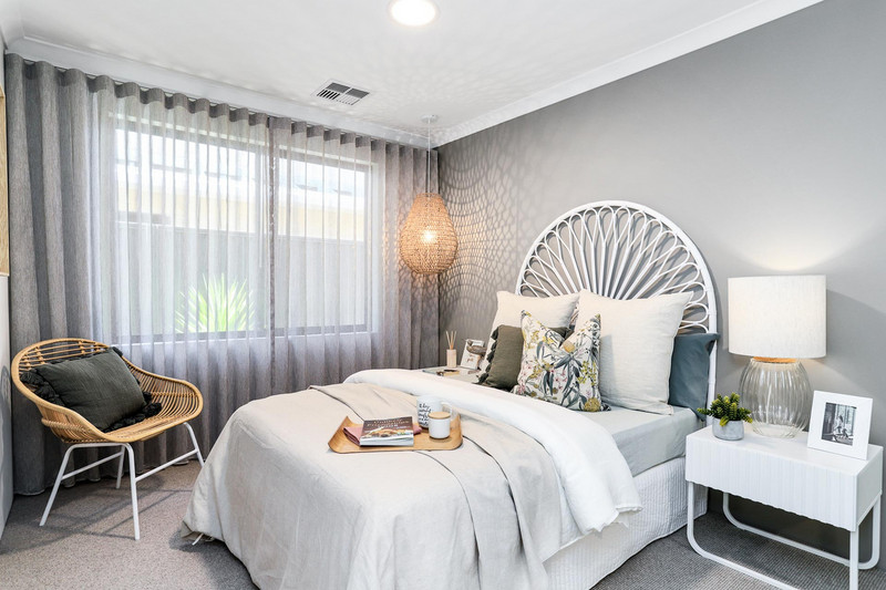 4 bed, 2 bath single storey home design Perth with 15m frontage by Aussie Living Homes