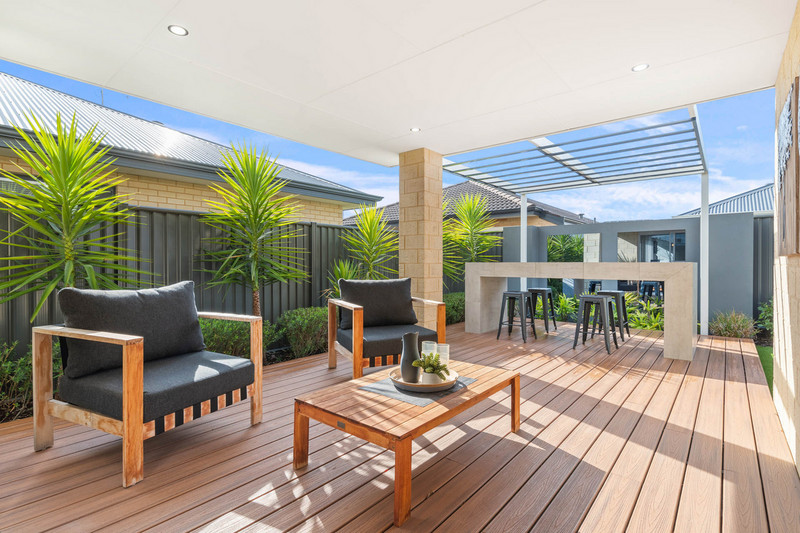 3 bed, 2 bath single storey home design Perth with 12m frontage by Aussie Living Homes