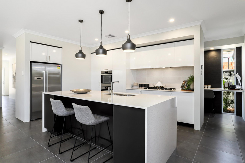 3 bed, 2 bath single storey home design Perth with 14m frontage by Aussie Living Homes