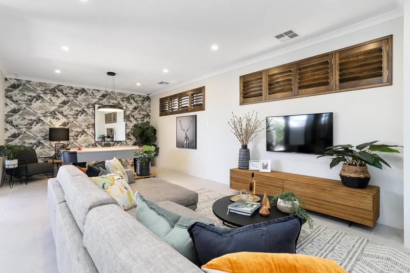 4 bed, 2 bath single storey home design Perth with 14m frontage by Aussie Living Homes