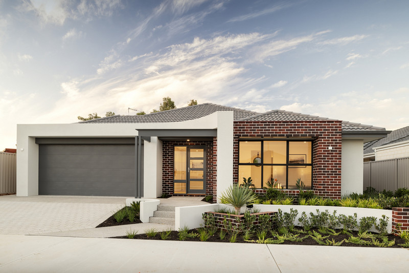 4 bed, 2 bath single storey home design Perth with 20m frontage by Aussie Living Homes