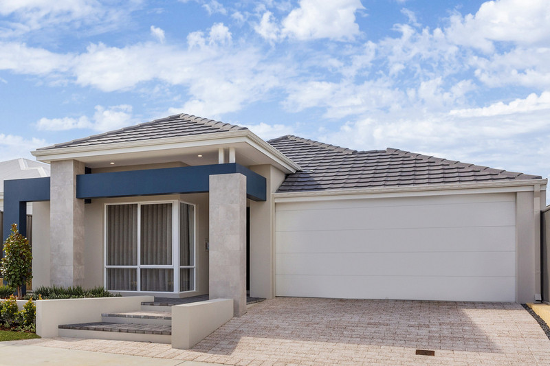 4 bed, 2 bath single storey home design Perth with 12.30m frontage by Aussie Living Homes
