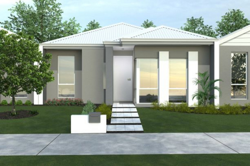 4 bed, 2 bath single storey home design Perth with 12m frontage by Aussie Living Homes