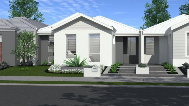 3 bed, 2 bath single storey home design Perth with 7m frontage by Aussie Living Homes