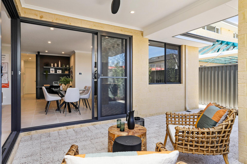 4 bed, 2 bath single storey home design Perth with -m frontage by Aussie Living Homes