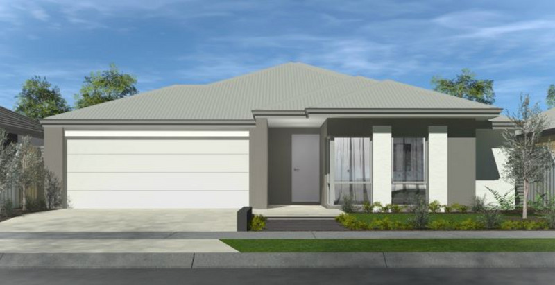 3 bed, 2 bath single storey home design Perth with 15.80m frontage by Aussie Living Homes