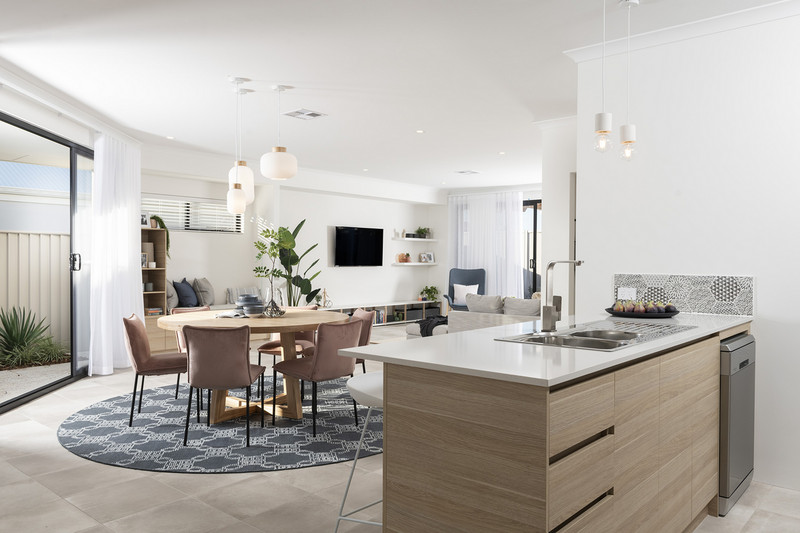 3 bed, 2 bath single storey home design Perth with 6m frontage by Aussie Living Homes