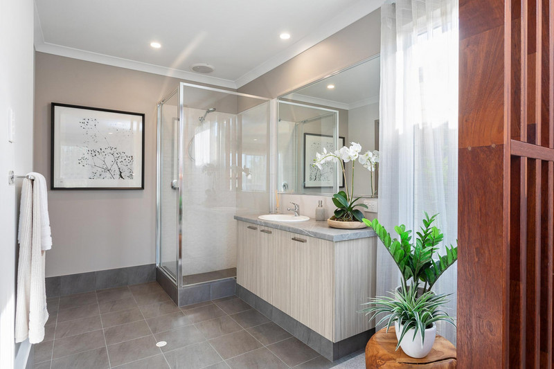 4 bed, 2 bath single storey home design Perth with 12.10m frontage by Aussie Living Homes