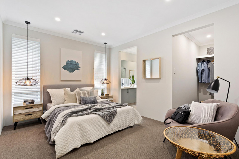 4 bed, 2 bath single storey home design Perth with 14.30m frontage by Aussie Living Homes