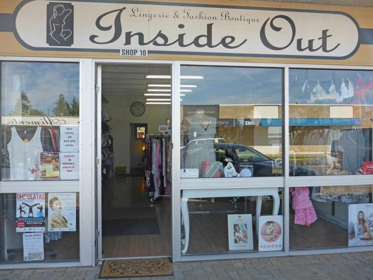 inside out lingerie fashion boutique. Black Bedroom Furniture Sets. Home Design Ideas
