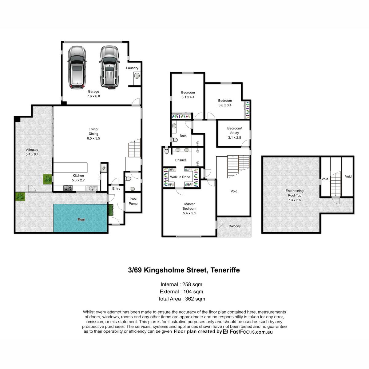 3 / 69 Kingsholme Street, Teneriffe QLD 4005 | Property for